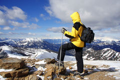 alpes trekking photos stock