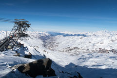 Alpes, Val-Thorens Immagine Stock Libera da Diritti