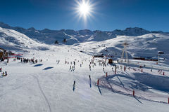 Alpes, Val-Thorens Lizenzfreie Stockfotografie
