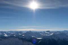 Alpes, Val-Thorens Stockbilder