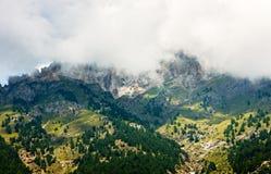 Alpes vicino a Sestriere in Italia Fotografia Stock Libera da Diritti