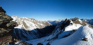 Alpes w Sölden Zdjęcie Stock