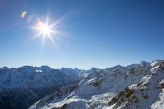 Alpes w Sölden Obraz Stock