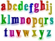 Alpfabet tridimensionnel Image libre de droits