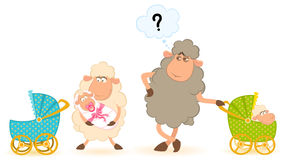 πρόβατα κακογραφίας μετ&alph Στοκ Εικόνα