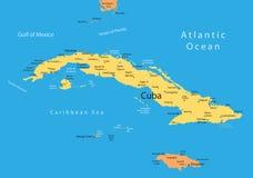 χάρτης της Κούβας Τζαμάικ&alpha Στοκ Εικόνες