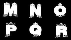 Alpha alphabet d'or emmêlé de boucle illustration libre de droits