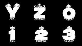 Alpha alphabet d'or emmêlé de boucle illustration stock