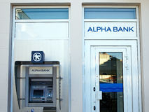 Alpha Bank, Grecia Fotografia Stock