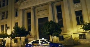 Alpha Bank Greece at night stock video