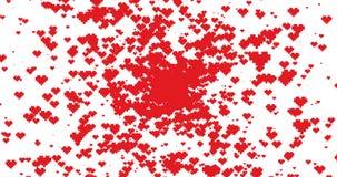 Alpha Channel Bandera feliz del día del ` s de la tarjeta del día de San Valentín Diseño del movimiento E-tarjeta del saludo Anim