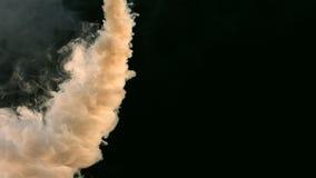 Alpha channel billowing smoke stock video