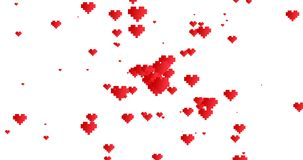 Alpha Channel Glückliche Valentinsgruß ` s Tagesfahne Bewegungsdesign Grußekarte Animation für die Heirat lizenzfreie abbildung