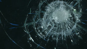 Alpha channel glass breaking stock footage