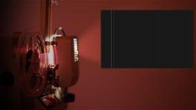Alpha Channel Reel Projector stock footage