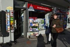 Alpha. Christian bookshop in central Nuremberg Stock Photography