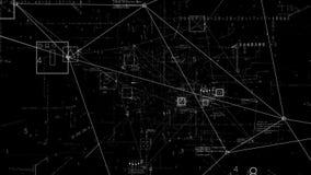Alpha de png Tunnel de Pexus de cyberespace de techno de connexion illustration libre de droits