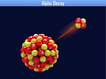 Alpha Decay Stockfoto