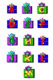Alpha Decorated Boxes Royalty Free Stock Photos
