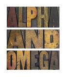 Alpha et Omega photos stock
