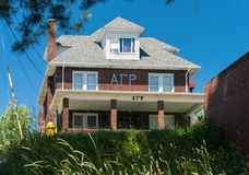 Alpha Gamma Rho Greek Housing chez Virginia University occidentale images libres de droits