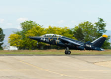 Alpha jet taking off from the runway Stock Photography