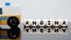 Alpha Letters que soletra uma angina da palavra Imagens de Stock