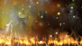Alpha matted fire. 3D rendered stock footage
