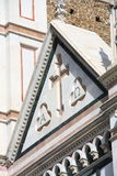 Alpha and Omega. Church of basilica Santa Croce in Florence, Italy Royalty Free Stock Photography
