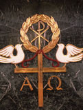 Alpha and Omega. The name of god, the beginning and the end Stock Images