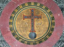 Alpha and Omega. Mosaic, basilica of Saint Paul Outside the Walls, Rome, Italy Stock Photography
