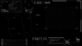 Alpha- PNG De technologische vertoning van HUD met futuristische infographic elementen stock footage