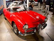 Alpha- Romeo's Giulietta Sprint in Milaan Autoclassica 2016 Royalty-vrije Stock Afbeeldingen