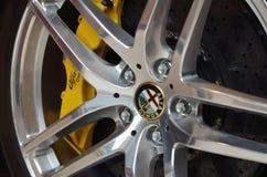 Alpha Romeo Brakes. Brakes and rim of italian car Alpha Romeo Royalty Free Stock Photography