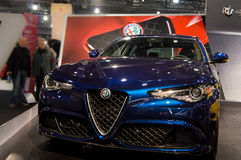 2017 Alpha- Romeo Giulia Quadrifoglio Stock Afbeeldingen
