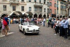 Alpha Romeo Giulia Spider chez Mille Miglia 2015 Images libres de droits