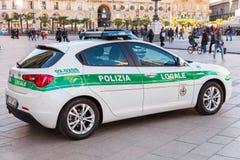 Alpha- Romeo Giulietta, Italiaanse politiewagen stock foto