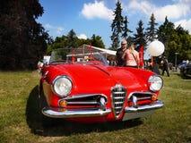 Alpha- Romeo Giulietta, Uitstekende Iconische Auto's Stock Afbeelding