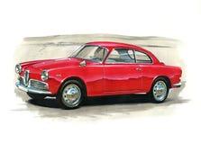 Alpha Romeo Guilietta Sprint 1966 illustration de vecteur