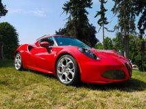 Alpha Romeo Spider, Sport-Automobile stockfotos