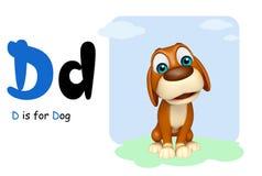 Alphabate för witn för hundlantgårddjur Arkivbild