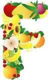 alphabatical плодоовощи Стоковая Фотография