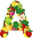Alphabatical fruits Stock Photo