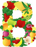 Alphabatical fruits Royalty Free Stock Photography