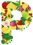 Alphabatical fruits Royalty Free Stock Photos