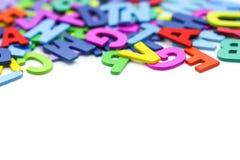 Alphabe inglese di legno variopinto, concetto di istruzione Fotografia Stock Libera da Diritti
