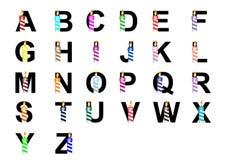 Alphabe met kaars (A-Z) Stock Fotografie