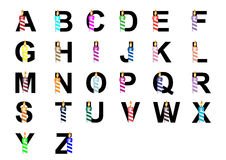 Alphabe z świeczką (A-Z) Fotografia Stock