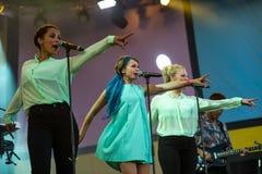 Alphabeat. At Novo Nordisk festival 2013 Royalty Free Stock Photo