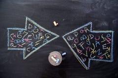 Alphabet à communiquer photo libre de droits
